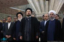 سخنان سید حسن خمینی در مراسم تجدید میثاق رئیس جمهور و هیات دولت