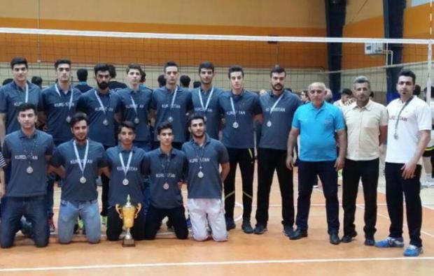 تیم والیبال کردستان به رقابت های دسته 2 امیدهای کشور صعود کرد