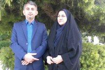 زوج خبرنگاران ایرنای مازندران در جشنواره دانشگاهها برتر شدند
