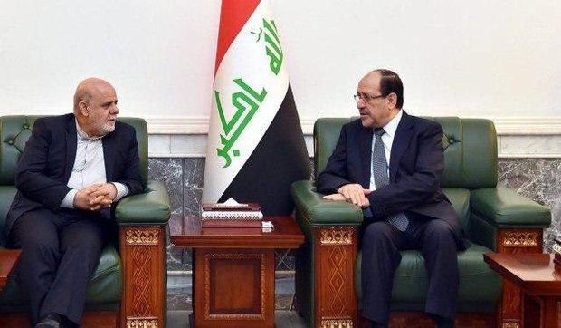 دیدار سفیر ایران در عراق  با نوری مالکی