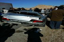 2 کشته و سه مصدوم در سانحه واژگونی خودرو در باغملک