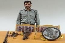 دستگیری یک متخلف به جرم شروع به شکار آهو در منطقه شکارممنوع فیله خاصه زنجان