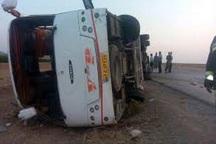 واژگونی اتوبوس در یاسوج 8 مصدوم بر جا گذاشت