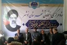 دفترستاد انتخاباتی رئیسی نامزد ریاست جمهوری در نوشهر و عباس آباد افتتاح شد