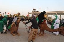 کاروان نمادین امام حسین(ع) در نطنز به حرکت درآمد