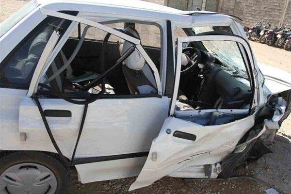 برخورد پراید و پژو در کرمان یک کشته و ۹ مجروح بر جا گذاشت