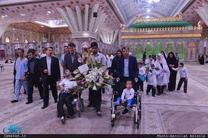 حضور مددجویان موسسه بچه های آسمان در حرم مطهر امام خمینی(س)