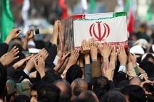 پیکر پاک شهید گمنام در زیرکوه تشییع شد