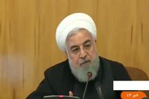 روحانی در جلسه هیات دولت و درباره تحریمهای ۱۳ آبان آمریکا