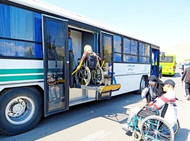 اتوبوس ویژه سالمندان و معلولان در کرج کلید خورد