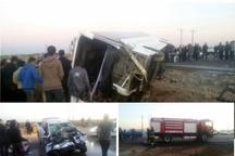 تخطی از سرعت مطمئنه و تجاوز به چپ سواری علت تصادف مرگبار اتوبوس دانش آموزان کرجی