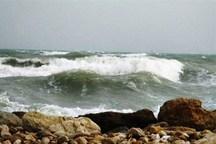 ارتفاع موج در جزیره های خلیج فارس به 180سانتیمتر است