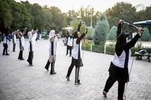 300 ورزشکار در همایش ورزش صبحگاهی بانوان همدان شرکت کردند