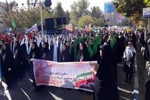 راهپیمایی ضد استکباری 13 آبان در البرز برگزار شد