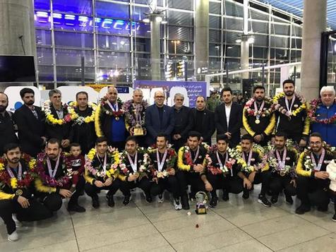 استقبال از تیم ملی فوتسال ناشنوایان کشورمان پس از کسب قهرمانی آسیا