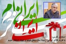 استاندار فارس: استفاده ازکالای ایرانی زمینه ساز اشتغال خواهد بود