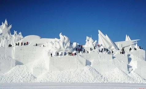 بزرگترین فستیوال برف و یخ ۲۰۱۹ در چین+ تصاویر
