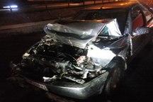 برخورد خودرو پژو با گاردریل در اتوبان پاسداران تبریز