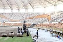 آغاز چمن کاری ورزشگاه اختصاصی فولاد خوزستان+تصاویر