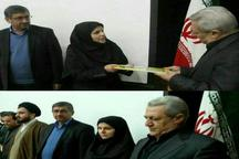 معرفی اولین معاون فرماندار زن در استان همدان
