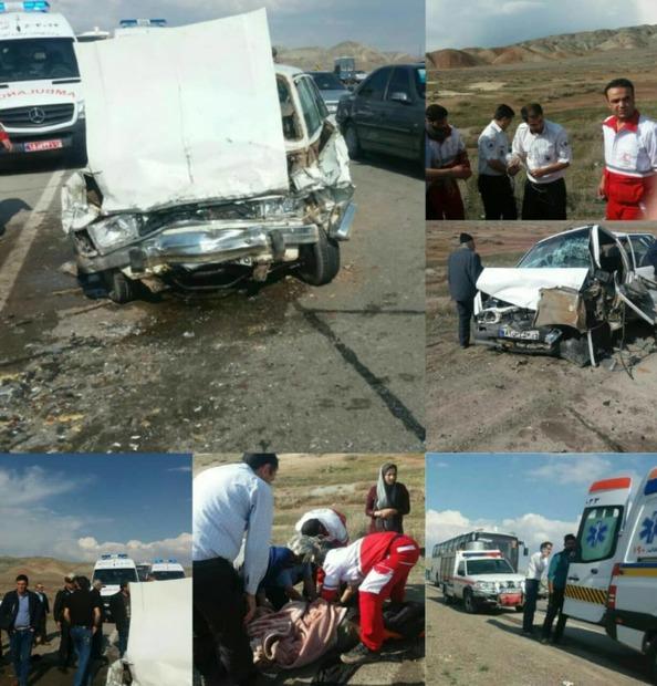 """حادثه رانندگی در محور """"هریس-تبریز"""" ۷ مصدوم بر جای گذاشت"""