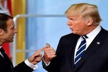 ماکرون ضربه را به جایی می زند که ترامپ دردش بگیرد!
