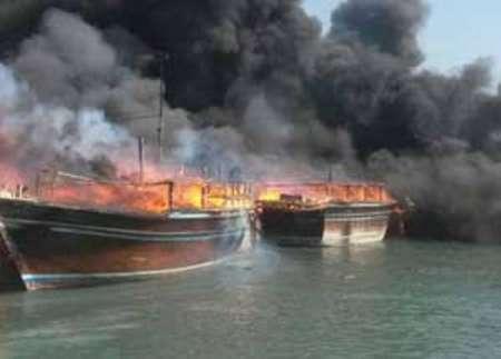 سه شناور در کنگان دچار آتش سوزی شدند