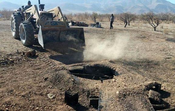 ۲ حلقه چاه غیرمجاز در محدوده شهرستان نیر مسدود شد