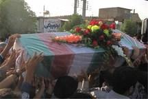 پیکر پاک پدر شهید حمید در رامشیر تشییع شد