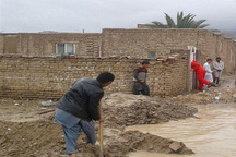 خسارت 200 میلیون ریالی سیلاب به منازل روستاییان قنداب سیب و سوران