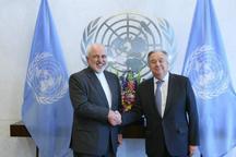 گفت و گوی ظریف با دبیرکل سازمان ملل درباره منطقه و آمریکا