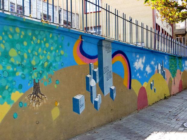 هنرجویانی که به مدد زیباسازی شهر زاهدان آمدند