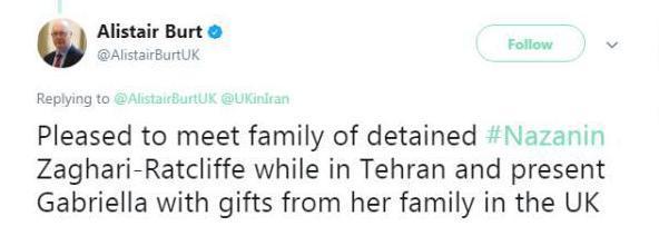 معاون وزیرخارجه بریتانیا با خانواده «نازنین زاغری» دیدار کرد