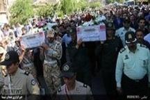 تشییع با شکوه 2 شهیده حادثه تروریستی تهران در خرم آباد