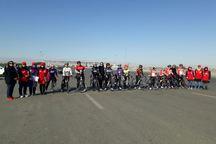 رقابت های دوچرخه سواری استقامت بانوان در مشهد برگزار شد
