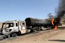 حریق خودروی تانکر حمل سوخت در جاده اهواز- اندیمشک