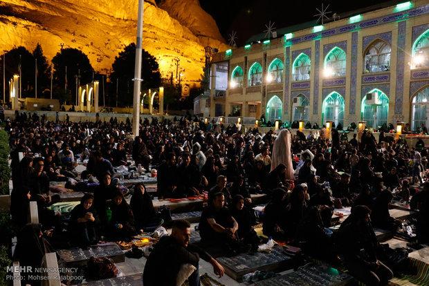 مراسم شب وداع با ماه رمضان در قزوین برگزار شد