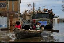 حضور فرمانده نیروی دریایی ارتش در مناطق سیل زده گلستان
