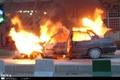 آتش گرفتن خودروی پراید در مشهد منجر به مرگ راننده شد