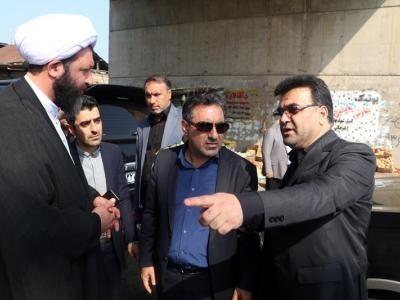 بازدید معاون وزیر راه و شهرسازی از تقاطع ملاسرای شفت