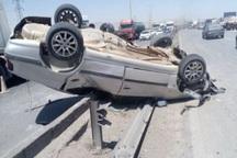 واژگونی خودروی سواری در قزوین منجر به مصدومیت هفت تن شد