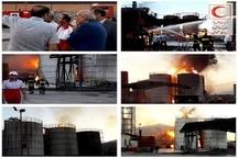 آتشسوزی واحد فرآوری مشتقات نفتی در کرمانشاه  فوت و سوختگی شدید دو کارگر
