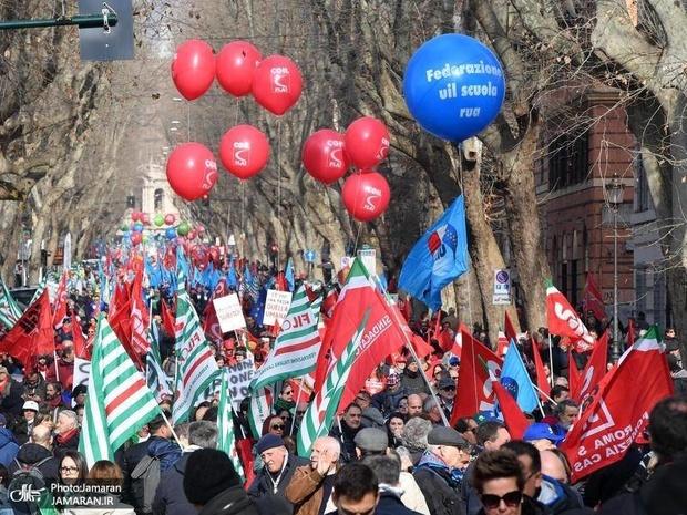 عکس/بزرگترین اعتراضات علیه دولت پوپولیست در رُم