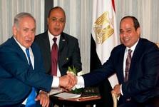 نخستین دیدار علنی نتانیاهو و سیسی+ تصاویر