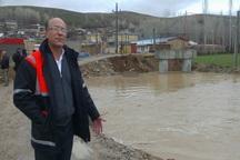 سیل پل ارتباطی چهار روستا را در هشترود تخریب کرد