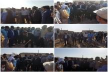 کلنگ ساخت واحدهای مسکونی روستاهای سیل زده حمیدیه به زمین زده شد