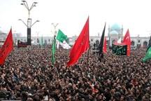 اجتماع عظیم عزاداران حسینی در حرم مطهر رضوی برگزار شد