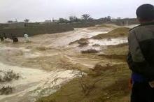 جاریشدن سیل در شهرستان باغملک  امدادرسانی به 100 خانوار سیلزده
