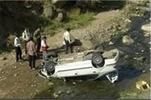 سقوط خودروی مرکز بهداشت الیگودرز به دره