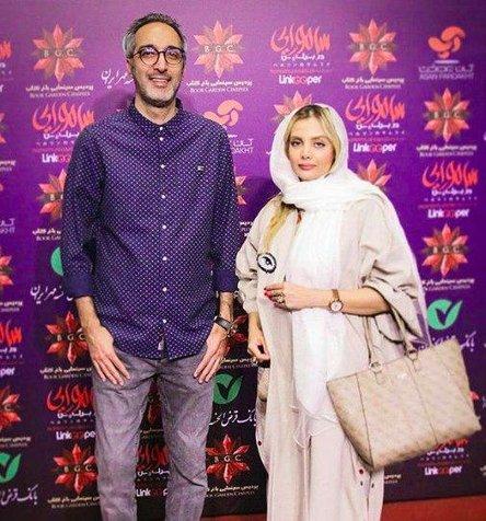 امیرمهدی ژوله و همسرش در اکران مردمی یک فیلم/ عکس